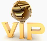 VIP globe Royalty Free Stock Photo