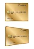 Vip gold credit card design Stock Photos