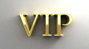 VIP - gold 3D quality render on the wall background with soft sh Royalty Free Stock Photos
