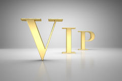VIP gold letters with DOF Royalty Free Stock Photography