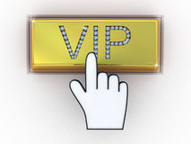 VIP gold letters on keyboard Stock Photos