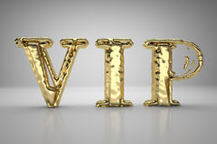 VIP gold letters. With reflections Royalty Free Stock Images