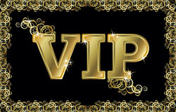 VIP golden card, vector Stock Photography