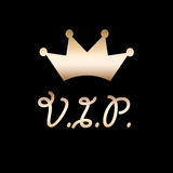 VIP golden crown Stock Photography