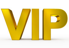 VIP golden - 3d letters isolated on white. Front view Stock Image