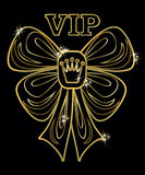 VIP golden greeting  card, vector Royalty Free Stock Image
