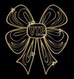 VIP golden invitation card, vector. Illustration Royalty Free Stock Image