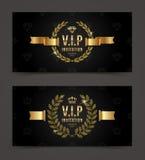 VIP golden invitation template vector illustration
