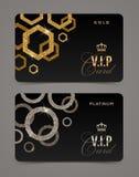 VIP golden and platinum card stock illustration