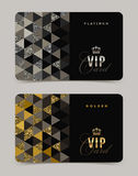 VIP golden and platinum cards royalty free illustration