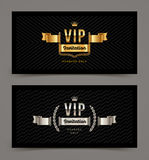 VIP golden and silver invitation royalty free illustration