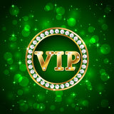 Vip on green background Stock Images