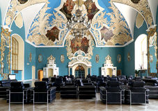 VIP-hall or a room higher comfort Kazansky railway station ( Kazansky vokzal)--is one of nine railway terminals in Moscow, Russia Stock Photo