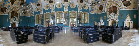 VIP-hall or a room higher comfort Kazansky railway terminal ( Kazansky vokzal) in Moscow, Russia Royalty Free Stock Image