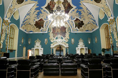VIP-hall or a room higher comfort Kazansky railway terminal ( Kazansky vokzal)  in Moscow, Russia. Stock Photos