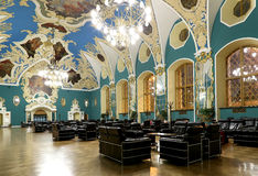 VIP-hall or a room higher comfort Kazansky railway terminal ( Kazansky vokzal)  in Moscow, Russia. Stock Photography