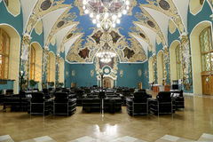 VIP-hall or a room higher comfort Kazansky railway terminal ( Kazansky vokzal)  in Moscow, Russia. Stock Photo