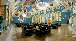 VIP-hall or a room higher comfort Kazansky railway terminal ( Kazansky vokzal)  in Moscow, Russia. Stock Image