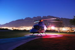 VIP helicopter. VIP Executive Helicopter on Helipad afternoon Royalty Free Stock Image