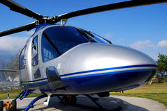 VIP helicopter close up. VIP Executive Helicopter on Helipad Stock Image