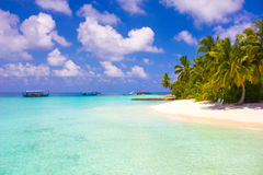 VIP Honeymoon Resort in The Maldives, Eden on Earth stock photography