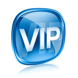 VIP icon blue glass, Stock Photos
