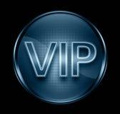 VIP icon dark blue. VIP icon dark blue, isolated on black background Royalty Free Stock Photo