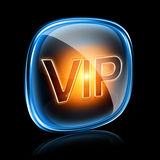 Vip icon neon. Vip icon neon, isolated on black background Royalty Free Stock Images