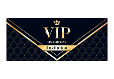 VIP invitation card premium design template. Stock Photography