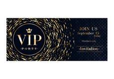 VIP invitation card premium design template. Stock Photos