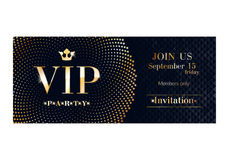 VIP invitation card premium design template. Stock Photos
