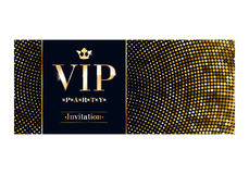 VIP invitation card premium design template. Royalty Free Stock Photography
