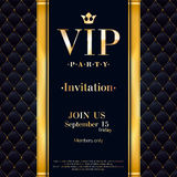 VIP invitation card premium design template. Royalty Free Stock Photos