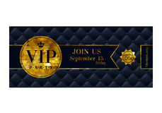 VIP invitation card premium design template. Stock Photography