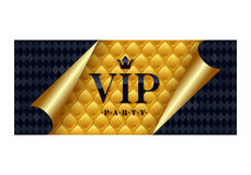 VIP invitation card premium design template. Stock Image