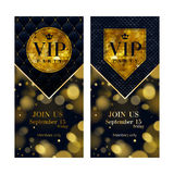 VIP invitation card premium design templates set. Stock Photo