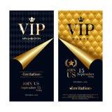 VIP invitation card premium design templates set. Royalty Free Stock Images