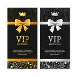 Vip Invitation and Card Set. Vector Royalty Free Stock Image