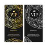 Vip Invitation and Card Set. Vector Royalty Free Stock Images