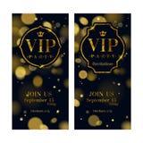 VIP invitation cards premium design template. Stock Images
