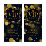 VIP invitation cards premium design template. Royalty Free Stock Photography