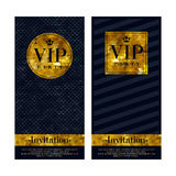VIP invitation cards premium design templates Stock Photos