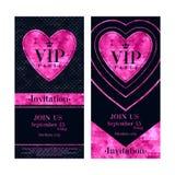 VIP invitation cards premium design templates Stock Photo