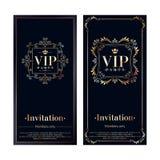 VIP invitation cards premium design templates Royalty Free Stock Photos