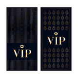 VIP invitation cards premium design templates Royalty Free Stock Images