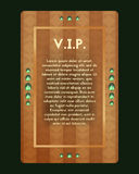 VIP invitation. The certificate with jewel . Vector banner with green gemstone. VIP party invitation. The certificate is expensive decorated with jewel . Vector Royalty Free Stock Photography