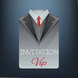 VIP invitation in the form of a suit. Vector Stock Photography