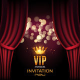 Vip invitation luxury poster design. Golden word VIP premium invitation.  vector illustration