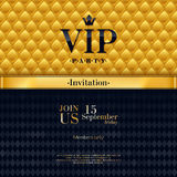 VIP invitation premium design background template. Royalty Free Stock Photography