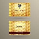VIP karty szablon Zdjęcia Royalty Free